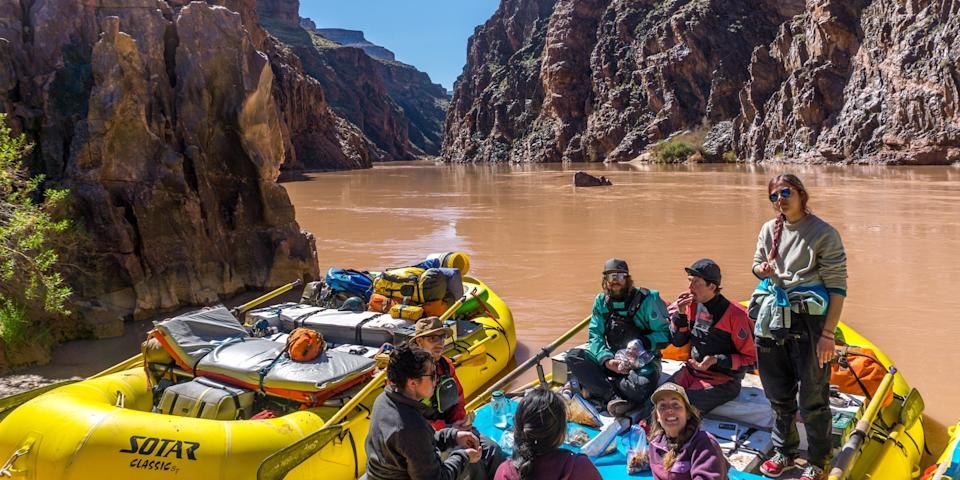 The rafters on the Colorado River.
