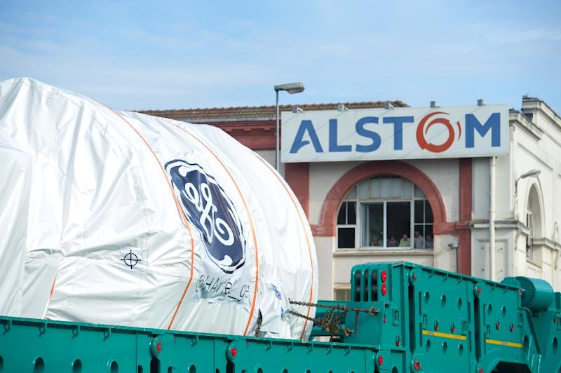 French industrial group Alstom swung into the red in the first half of the year, partly due to the ceding of power business assets to General Electric