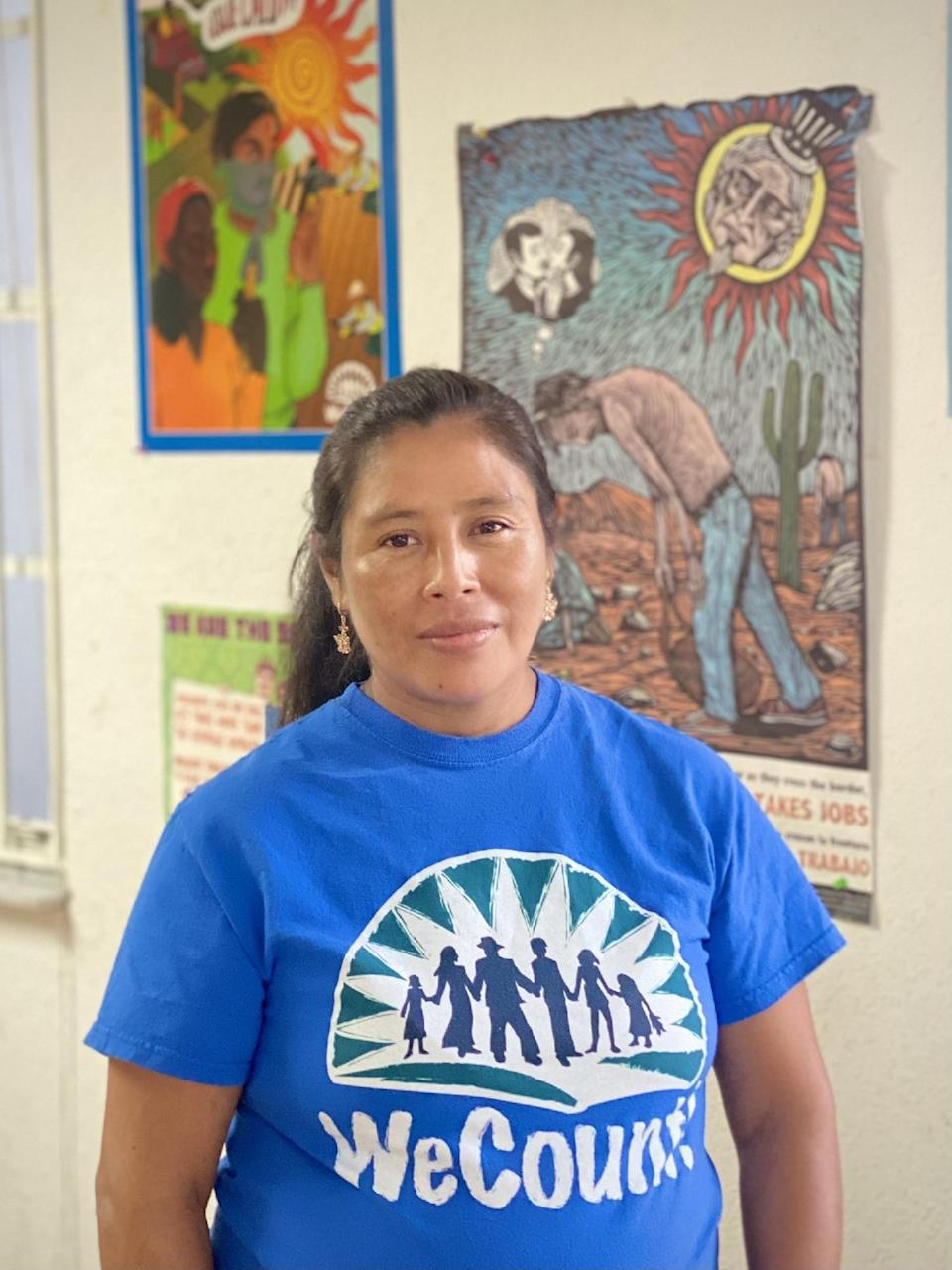 Martha Gabriel, 41, is a Homestead, Florida farmworker whose health has suffered from heat. She's a member of WeCount, a group for immigrant rights.