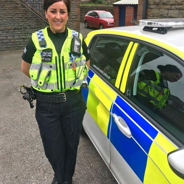 It is claimed Sgt Reed and PC Jemma Dicks, pictured, engaged in sex acts inside Central Cardiff police station - Wales News Service/Wales News Service