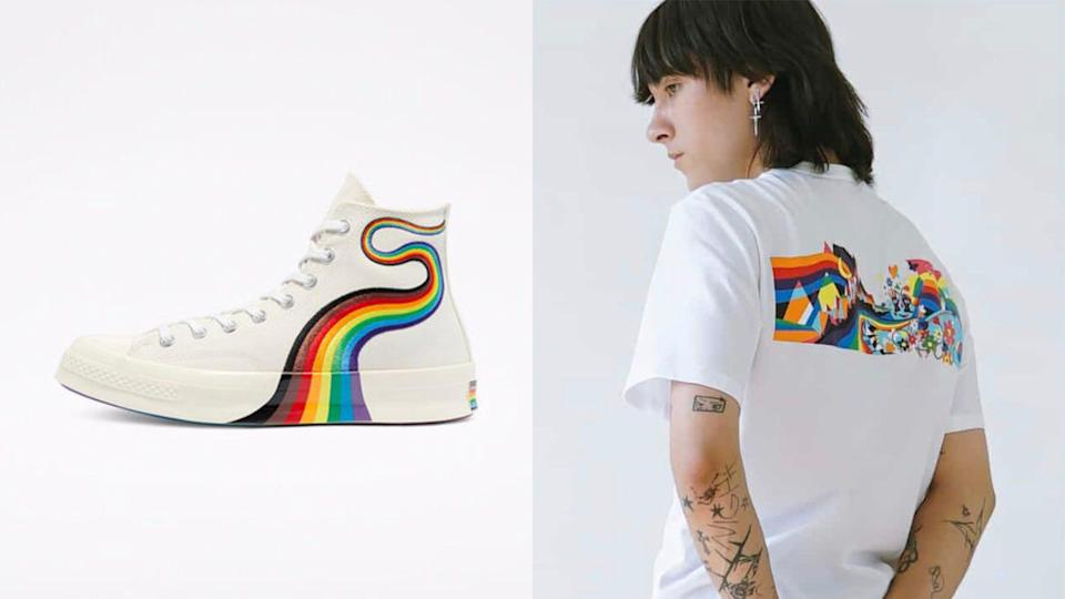 The Pride collection at Converse draws inspiration from five members of the brand's All-Stars global community.