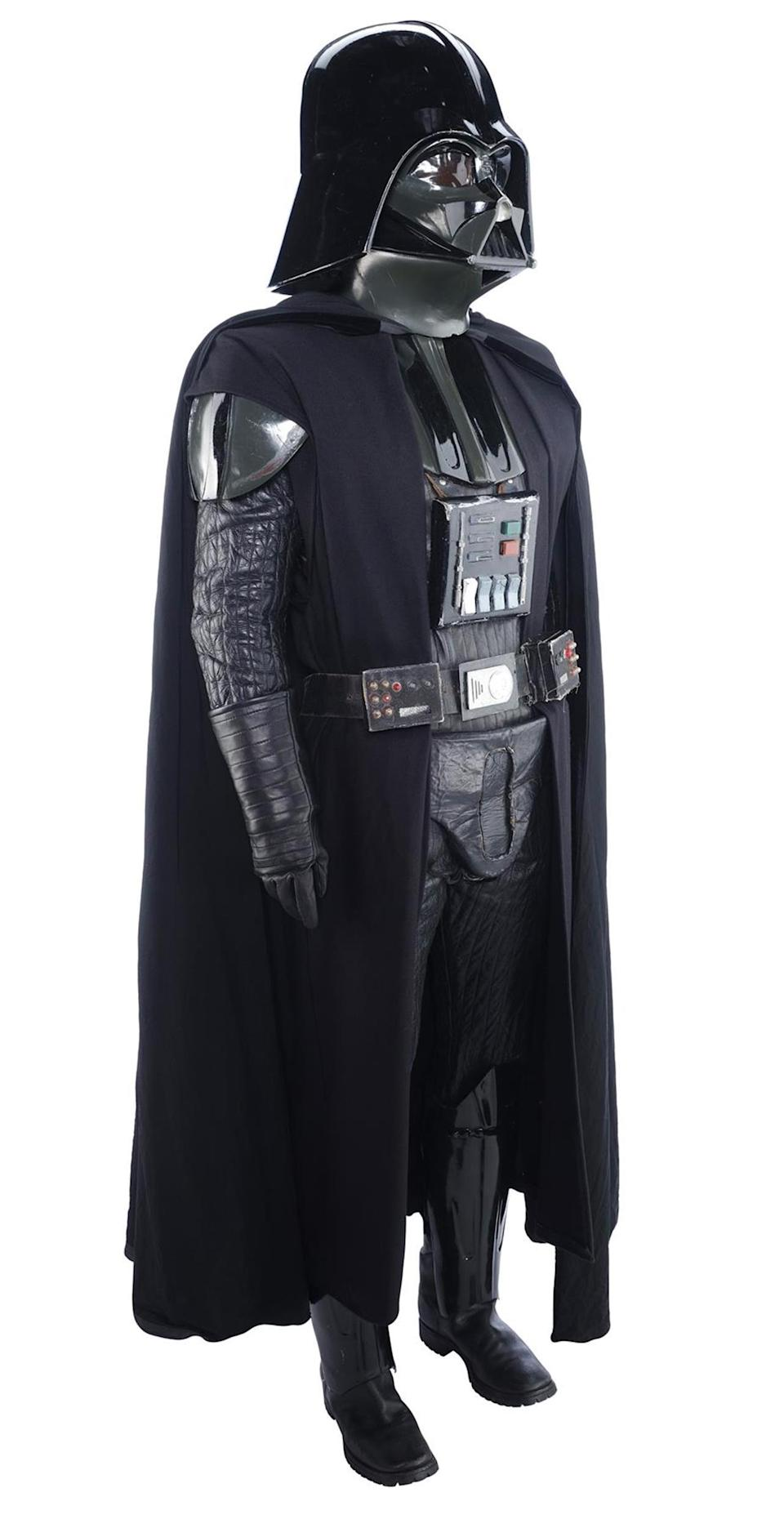 A Darth Vader promotional costume from the original Star Wars movie is going under the hammer (Prop Store/PA)