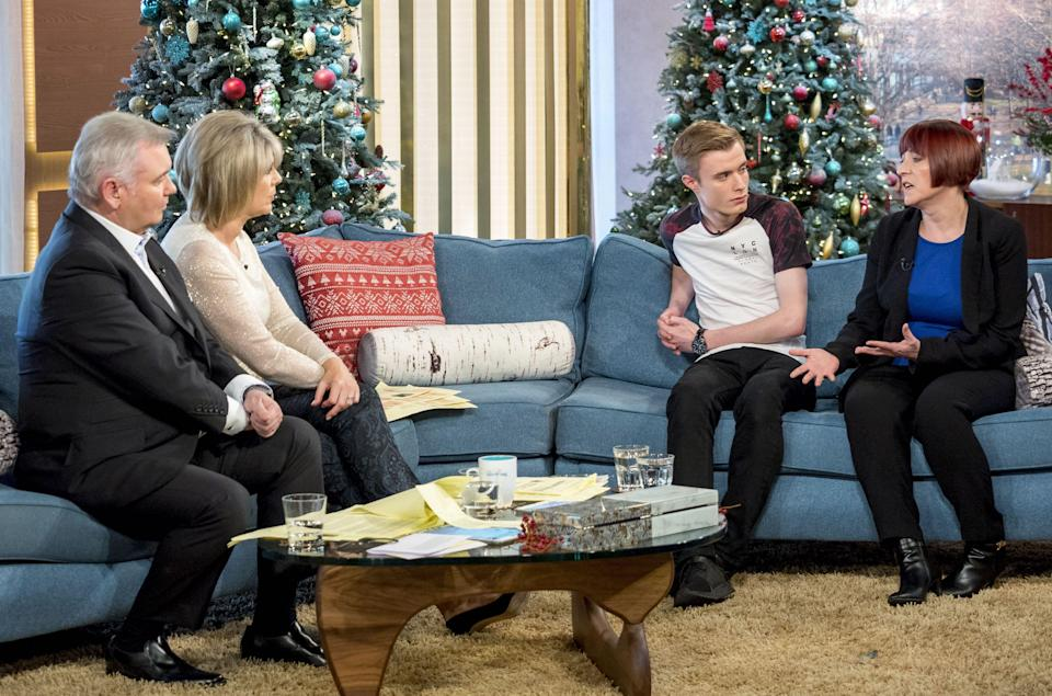 Liam Allan appeared on This Morning on Monday (Picture: Rex)