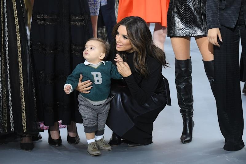 "Eva Longoria says mothering her toddler son Santiago is ""amazing and beautiful."" (Photo: Stephane Cardinale - Corbis/Corbis via Getty Images)"