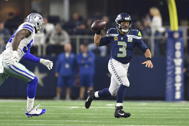 Russell Wilson's play-action capabilities are probably being underutilized. (Shane Roper-USA TODAY Sports)