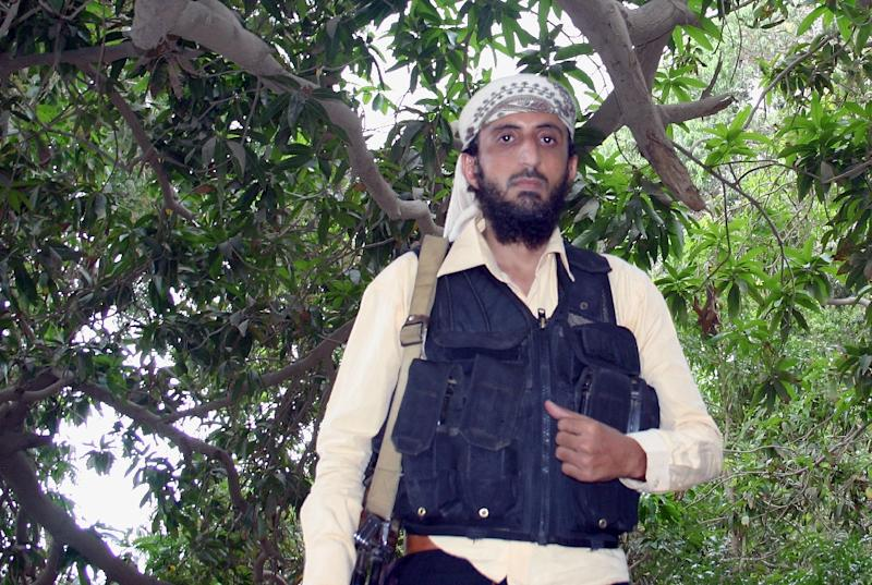 Jalal Belaidi, also known as Abu Hamza, leader of the Ansar al-Sharia, an Al-Qaeda affiliate group in Yemen, pictured near Zinjibar, Yemen on January 21, 2012 (AFP Photo/)