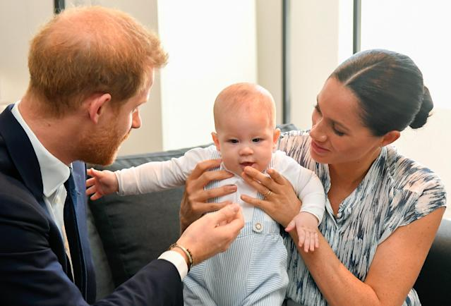 Harry and Meghan will share a new picture of Archie for his first birthday. (Getty Images)