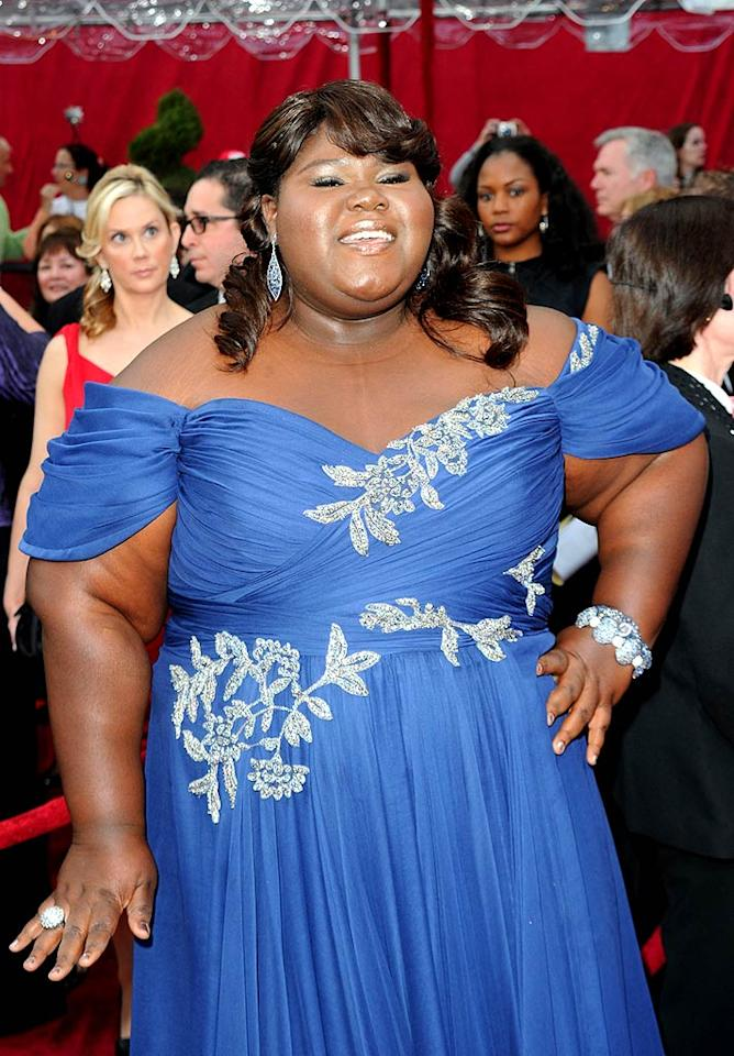 """Sandra's co-nominee, """"Precious"""" actress Gabourey Sidibe, got a shout out from Bullock at the Oscars -- """"You are exquisite. You are beyond words to me"""" -- and, a new gig. The sassy star just signed on as a recurring character in the new Showtime series """"The Big C"""" alongside Laura Linney. Jason Merritt/<a href=""""http://www.gettyimages.com/"""" target=""""new"""">GettyImages.com</a> - March 7, 2010"""