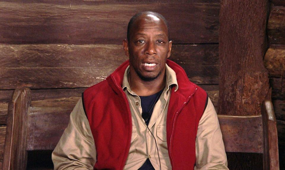 Ian Wright appearing on I'm A Celebrity last year (Photo: ITV/Shutterstock)