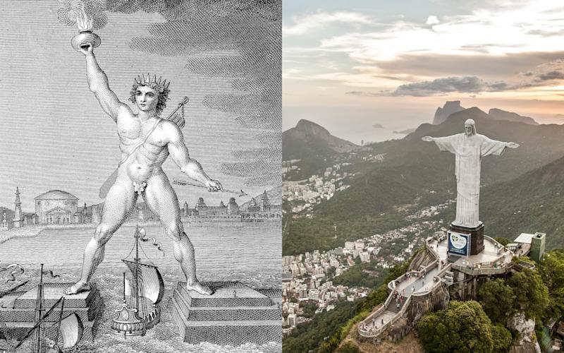 The Colossus of Rhodes and Christ the Redeemer, its modern match - CC
