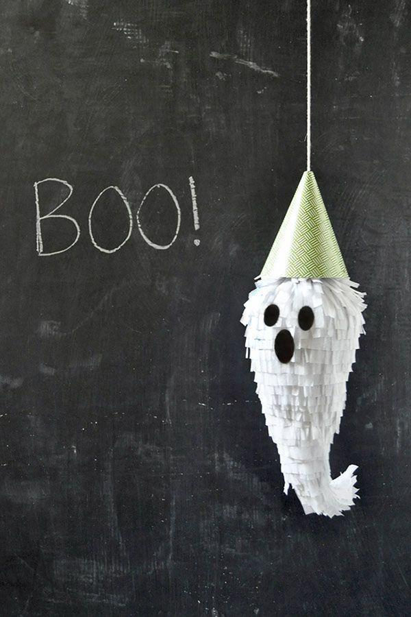 """<p>These DIY ghost piñatas are easy to DIY but also make super cute <a href=""""https://www.goodhousekeeping.com/holidays/halloween-ideas/g421/halloween-decorating-ideas/"""" rel=""""nofollow noopener"""" target=""""_blank"""" data-ylk=""""slk:Halloween decorations"""" class=""""link rapid-noclick-resp"""">Halloween decorations</a> if you leave out the candy.</p><p><a class=""""link rapid-noclick-resp"""" href=""""https://www.amazon.com/81ft-White-Crepe-Paper-Streamers/dp/B005AVVBA2?tag=syn-yahoo-20&ascsubtag=%5Bartid%7C10055.g.2618%5Bsrc%7Cyahoo-us"""" rel=""""nofollow noopener"""" target=""""_blank"""" data-ylk=""""slk:SHOP CREPE PAPER"""">SHOP CREPE PAPER</a></p><p><em><a href=""""http://ohhappyday.com/2013/10/mini-ghost-pinatas-diy/"""" rel=""""nofollow noopener"""" target=""""_blank"""" data-ylk=""""slk:Get the tutorial at a Oh Happy Day »"""" class=""""link rapid-noclick-resp"""">Get the tutorial at a Oh Happy Day »</a></em> </p>"""