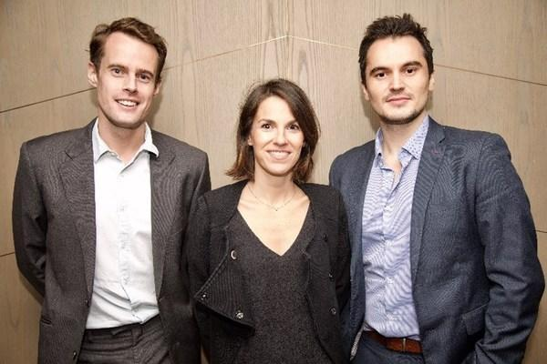 Sequential Skin team: Dr Oliver Worsley, CEO/cofounder (left), Petronille Houdart, PharmD and skincare director (middle), Dr Albert Dashi, CSO/cofounder (right). (PRNewsfoto/Sequential Skin)