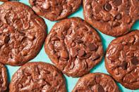 """<p>Skip the flour and butter and you'll still have the fudgiest cookie with irresistible crispy edges.</p><p><em><a href=""""https://www.delish.com/cooking/recipe-ideas/a19573617/flourless-fudge-cookies-recipe/"""" rel=""""nofollow noopener"""" target=""""_blank"""" data-ylk=""""slk:Get the recipe from Delish »"""" class=""""link rapid-noclick-resp"""">Get the recipe from Delish »</a></em></p>"""