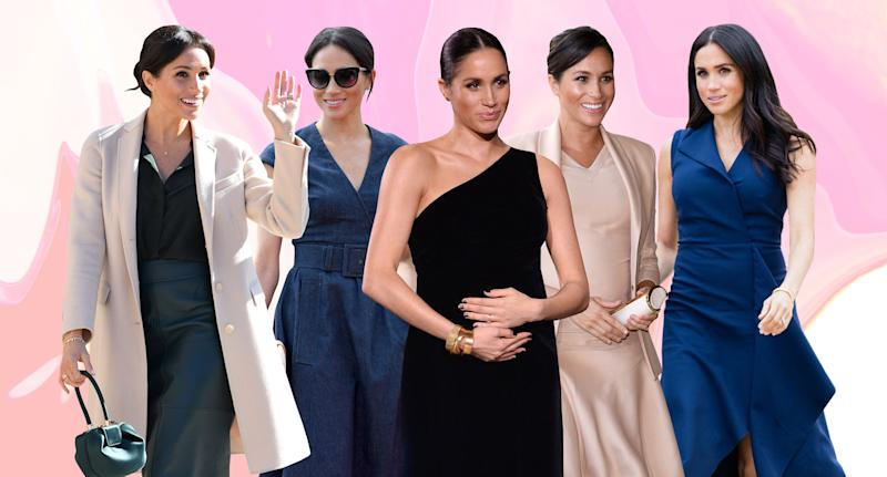 Meghan Markle's stylish looks over the years and how to shop them today (Photo: Getty Images, Art: Yahoo Lifestyle photo-illustration)