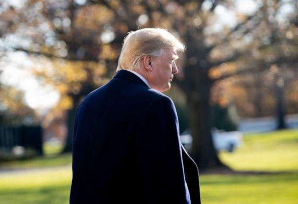 PHOTO: President Donald Trump walks to Marine One prior to departing from the South Lawn of the White House in Washington, DC, Dec. 7, 2018. (Saul Loeb/AFP/Getty Images, FILE)