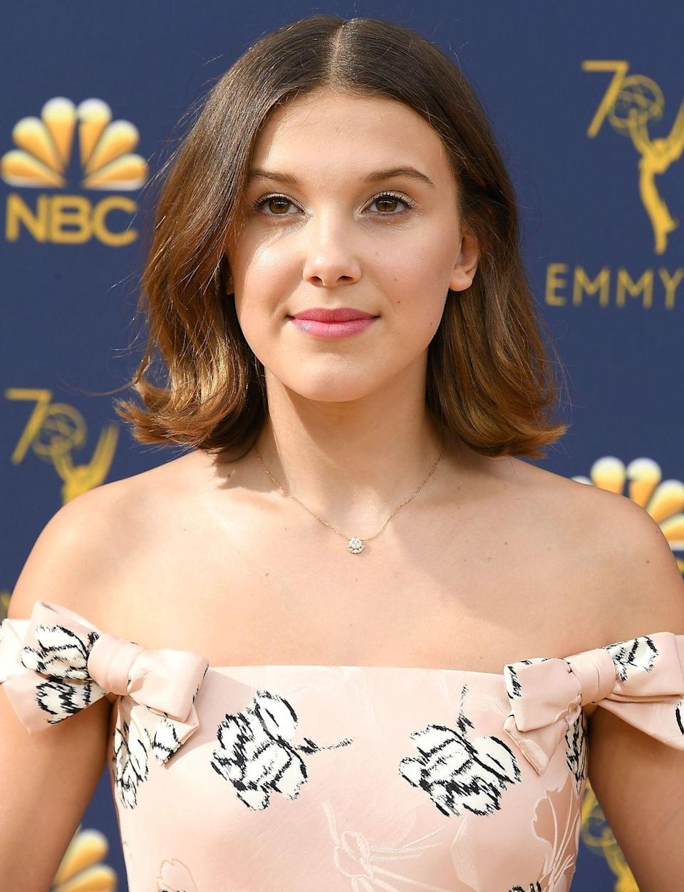"<p>Millie's look is gorgeous, but so effortless it doesn't take much to pull it off. Just go for a 2"" curling iron the next time you add wave to your hair.</p>"