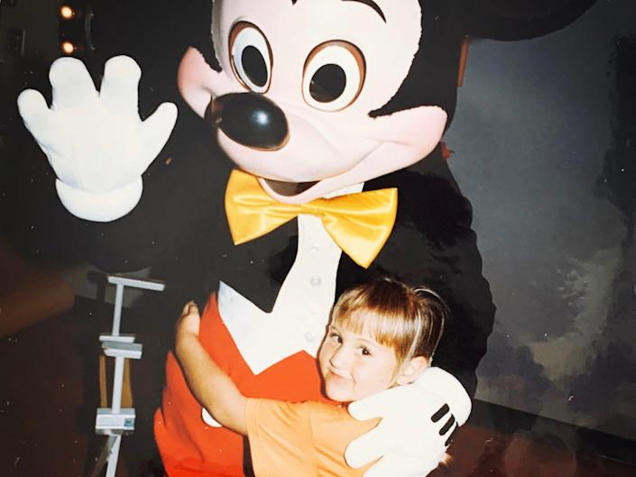 carly as a kid with mickey mouse