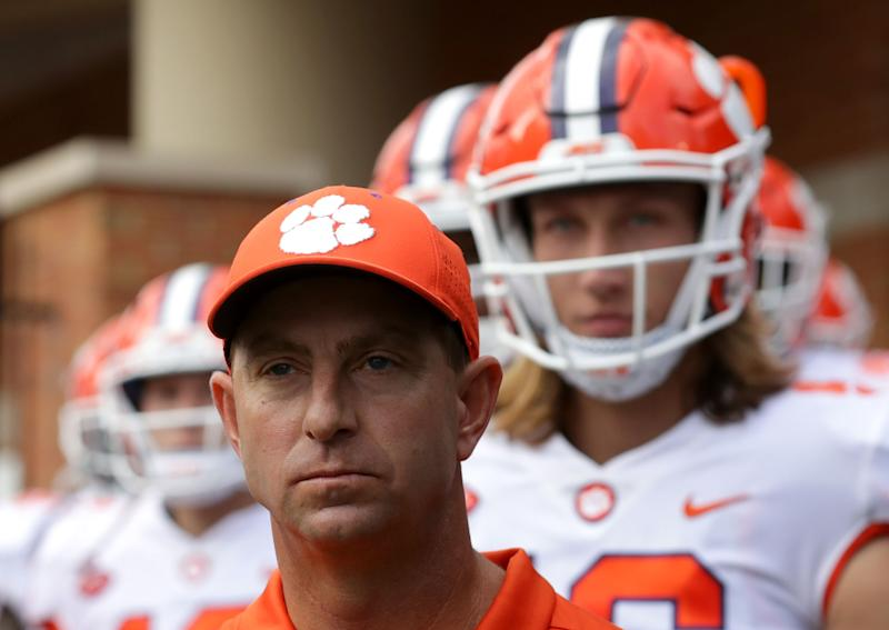 Will the coronavirus cancel Clemson football in the fall? (Photo by Streeter Lecka/Getty Images)