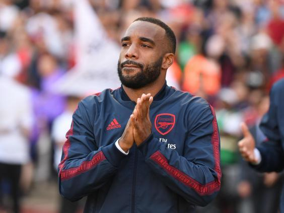 Alexandre Lacazette returned to training in the week but may not feature (Getty)