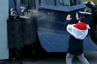 Belarus saw unprecedented mass protests after last year's elections in which Lukashenko claimed a sixth term