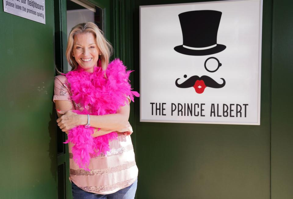 Kathy Beale will be running Albert Square's new gay bar The Prince Albert (BBC)