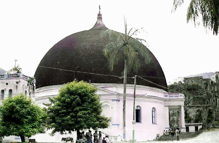 The 220 year-old Our Lady of the Immaculate Conception church in Milot, pictured in 2002, lost its dome in the fire (AFP Photo/THONY BELIZAIRE)