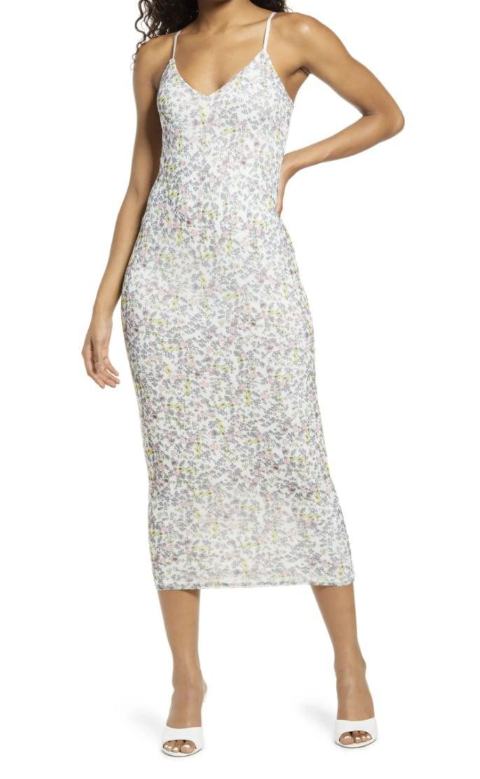 <p>This <span>AFRM Amina Sleeveless Midi Dress</span> ($78) features a subtle yet visible print and a summery silhouette for the perfect day-to-night look. Finish the look with some cute mules.</p>