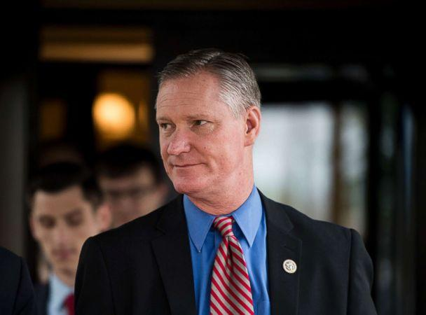 PHOTO: Rep. Steve Stivers leaves the House Republican Conference meeting at the Capitol Hill Club, May 16, 2018. (Bill Clark/Getty Images)
