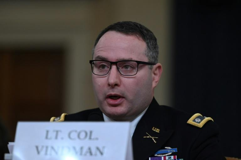 Lieutenant Colonel Alexander Vindman told a hearing in the impeachment inquiry of President Donald Trump that he was offered Ukraine's defense minister job in April, but he did not take the offer seriously