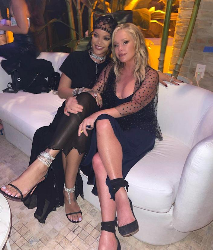 <p>At Rihanna's afterparty, none other than <em>Real Housewives of Beverly Hills</em> fave Kathy Hilton scored a seat next to the hostess. </p>