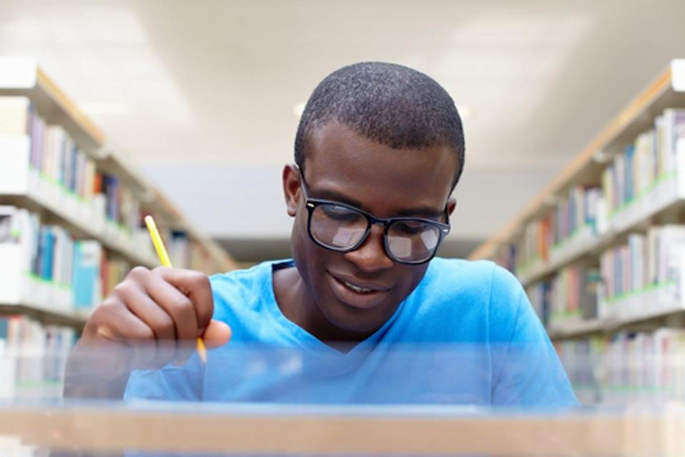 """<span class=""""caption"""">Education does not confer the same health and wealth benefits to blacks as to whites.</span> <span class=""""attribution""""><a class=""""link rapid-noclick-resp"""" href=""""https://www.shutterstock.com/image-photo/african-american-male-college-student-sitting-77104555?src=i8bQFK1LzzTxRHW5oKsJ1A-1-7"""" rel=""""nofollow noopener"""" target=""""_blank"""" data-ylk=""""slk:Diego Cervo/Shutterstock.com"""">Diego Cervo/Shutterstock.com</a></span>"""