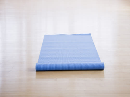"<p>Are you used to stretching on the mats at your gym? It may be time to re-think your routine. <a href=""http://www.huffingtonpost.com/entry/yoga-mats-health-risks_us_55f2f7f0e4b077ca094ec5af"">Experts say</a> communal mats can transmit everything from warts to staph infections to cases of diarrhea. According to Jack Foley, Associate Director of Athletics for Sports Medicine at Lehigh University, it comes down to how clean your club is. ""People in gyms are more likely to get a bacterial infection [such] as common staph if they have skin-to-skin contact with an infected person or by touching commonly used surfaces as benches, counter tops, walls, mirrors, exercise mats, weight or cardio equipment, and have a cut, scrape, or abrasion on their skin,"" he tells Yahoo Health. ""The main reason is as simple as poor personal and facility hygiene on a daily basis."" Sometimes, even putting down a towel as a ""barrier"" isn't enough — especially if you use the side touching the mat to wipe your body down later. If you're not sure how often mats are disinfected, play it safe and bring your own.</p><p><i>(Photo: Getty Images)</i></p>"