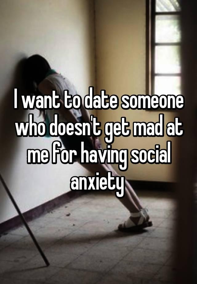 Social anxiety dating impossible