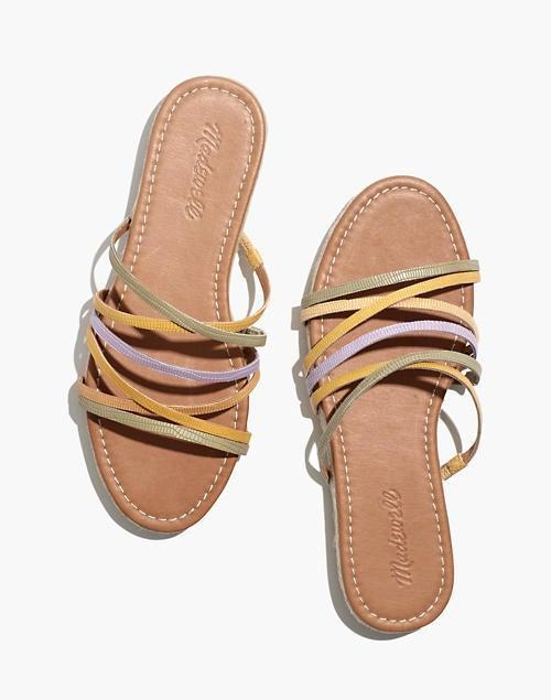 """<br><br><strong>Madewell</strong> The Kathryn Espadrille Slide Sandal, $, available at <a href=""""https://go.skimresources.com/?id=30283X879131&url=https%3A%2F%2Fwww.madewell.com%2Fthe-kathryn-espadrille-slide-sandal-in-colorblock-snake-embossed-leather-MD920.html"""" rel=""""nofollow noopener"""" target=""""_blank"""" data-ylk=""""slk:Madewell"""" class=""""link rapid-noclick-resp"""">Madewell</a>"""
