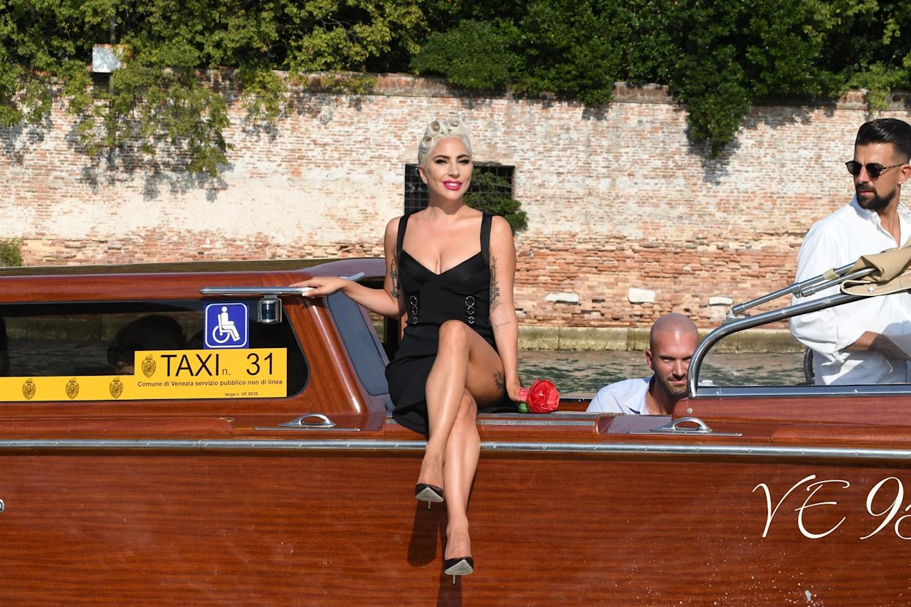 All hail the Queen of Unconventionally Riding Boats! Lady Gaga was promoting <em>A Star Is Born</em> at Venice Film Festival in 2018 when she simply glided into the event like this.
