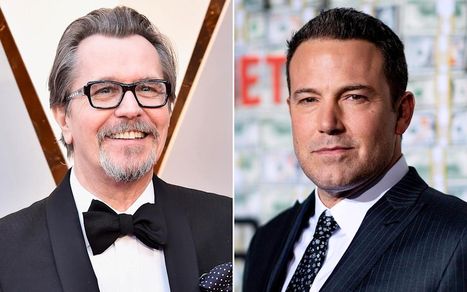 Gary Oldman, left, and Ben Affleck joined a Hollywood Reporter roundtable on COVID-19 and the movie business. (Photo: Getty Images)