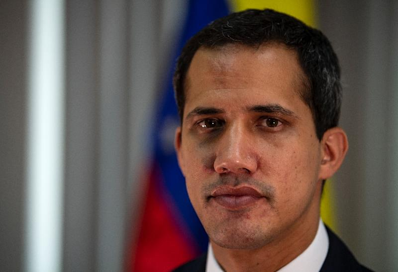 Venezuelan opposition leader and self-declared president Juan Guaido poses during an interview with AFP in Caracas on May 6, 2019 (AFP Photo/Ronaldo SCHEMIDT)