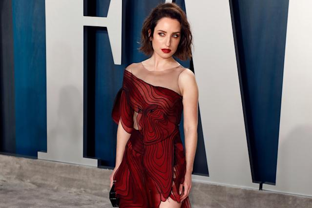BEVERLY HILLS, CALIFORNIA - FEBRUARY 09: Zoe Lister-Jones attends the Vanity Fair Oscar Party at Wallis Annenberg Center for the Performing Arts on February 09, 2020 in Beverly Hills, California. (Photo by Taylor Hill/FilmMagic,)