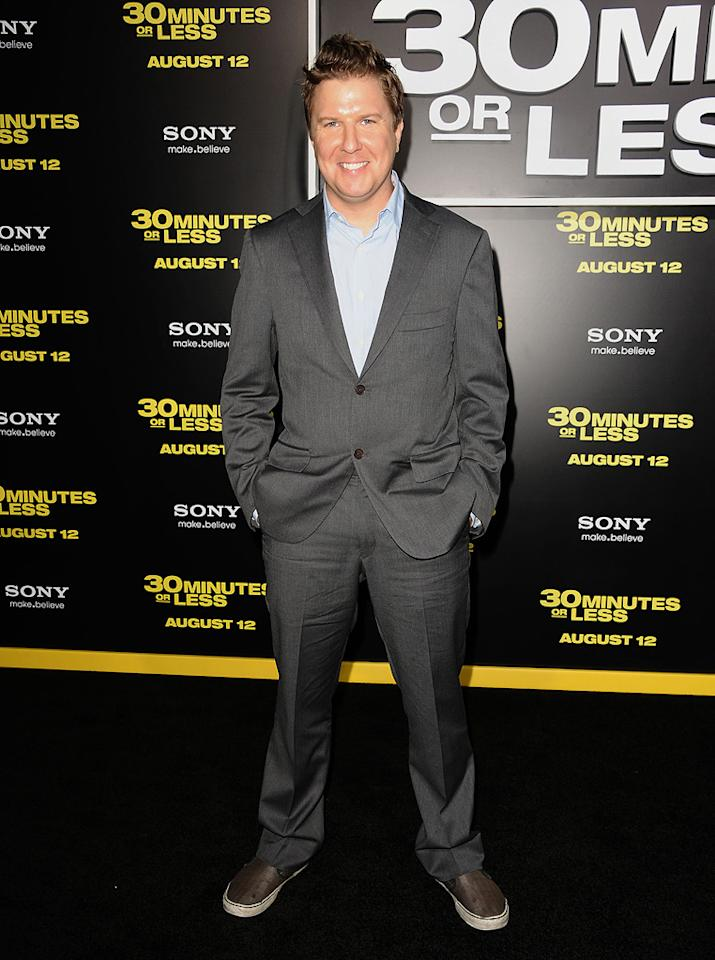 """<a href=""""http://movies.yahoo.com/movie/contributor/1807879701"""">Nick Swardson</a> at the Los Angeles premiere of <a href=""""http://movies.yahoo.com/movie/1810160427/info"""">30 Minutes or Less</a> on August 8, 2011."""