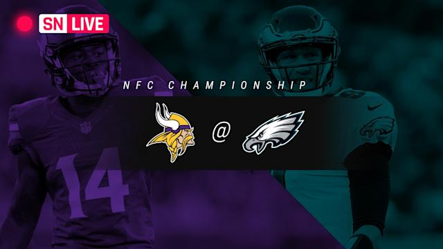 For live Vikings-Eagles scoring updates during Sunday's NFC championship game, follow along here.