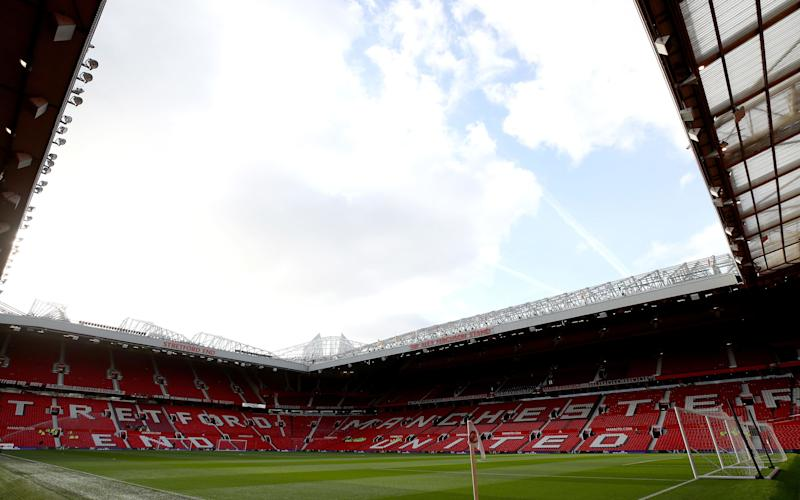 eneral view inside the stadium prior to the Premier League match between Manchester United and Everton at Old Trafford - Credit: GETTY