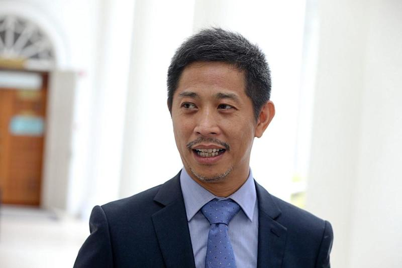 Gooi Hsiao Leung (PH - Bukit Tengah) asked the Speaker Datuk Law Choo Kiang for clarification on the rejection of his question regarding infrastructure projects in the state. ― Picture by Sayuti Zainudin