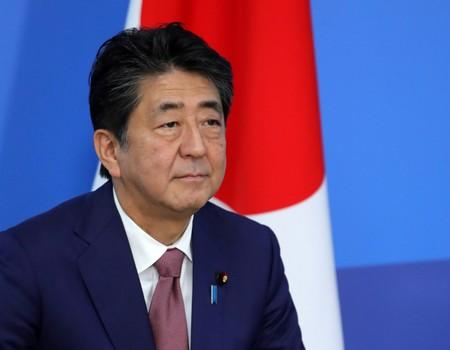 Japanese Prime Minister Abe is seen during a meeting with Russian President Putin at the sidelines of the Eastern Economic Forum in Vladivostok