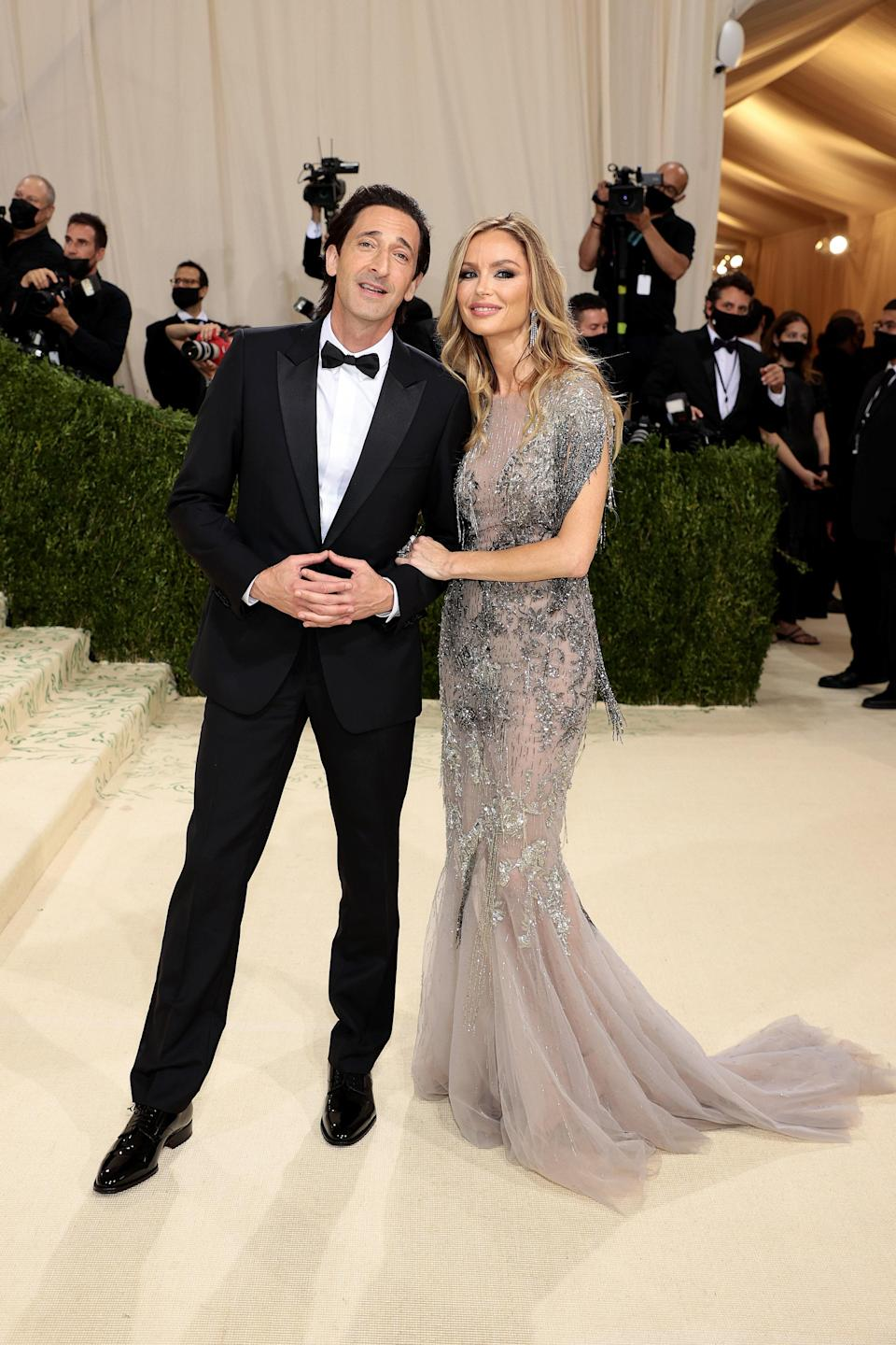 """<h1 class=""""title"""">Adrien Brody and Georgina Chapman, The 2021 Met Gala Celebrating In America: A Lexicon Of Fashion - Arrivals</h1><cite class=""""credit"""">Getty</cite>"""