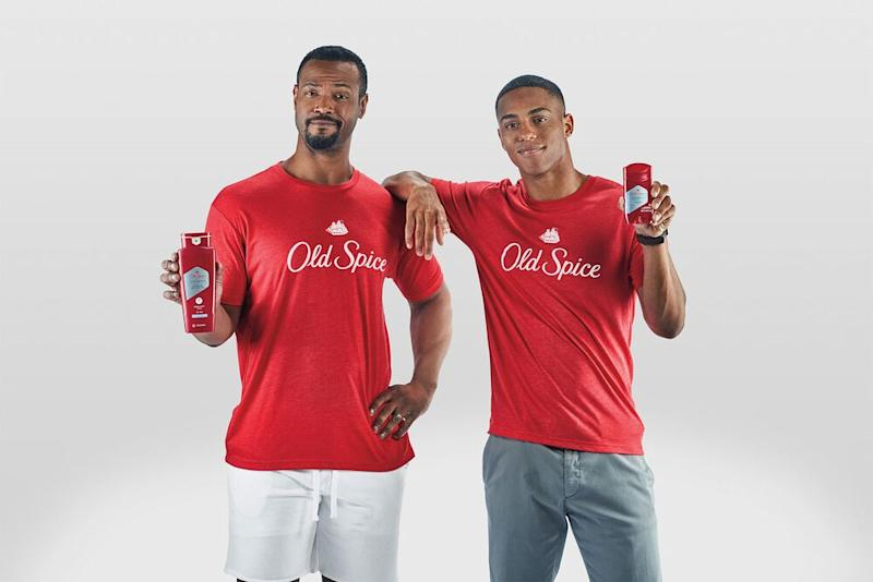 Isaiah Mustafa (left) and Keith Powers | Old Spice