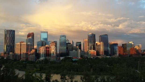 Calgary's downtown office building vacancy is at 32 per cent. City council has approved a plan to turn the downtown into a mixed-use, livable neighbourhood with more arts and entertainment amenities. (Leslie Kramer - image credit)
