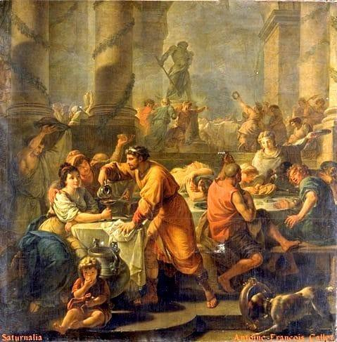 Saturnalia by Antoine-Francois Callet (1741-1823) Photo: Oil on canvas. Musée du Louvre