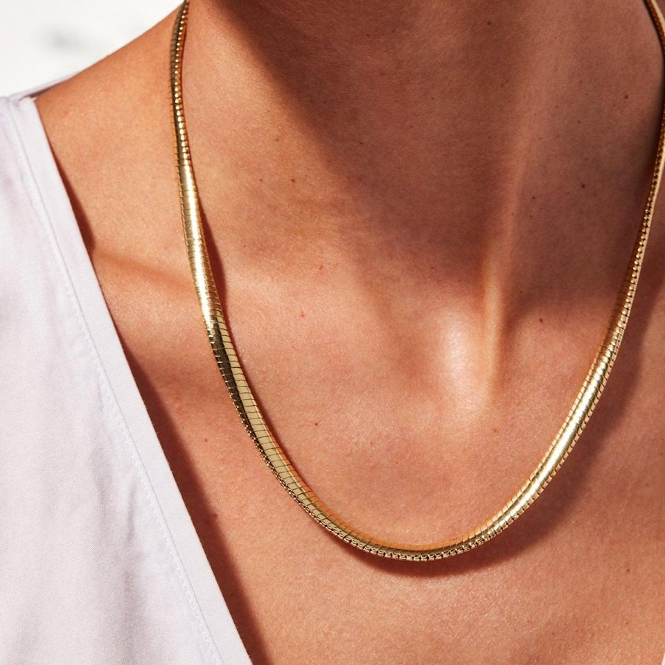 <p>This <span>Jenny Bird Mavi Snake Chain</span> ($130) is so simple and elegant, you'll buy one for you too. It's the kind of treasure you'll cherish for years.</p>