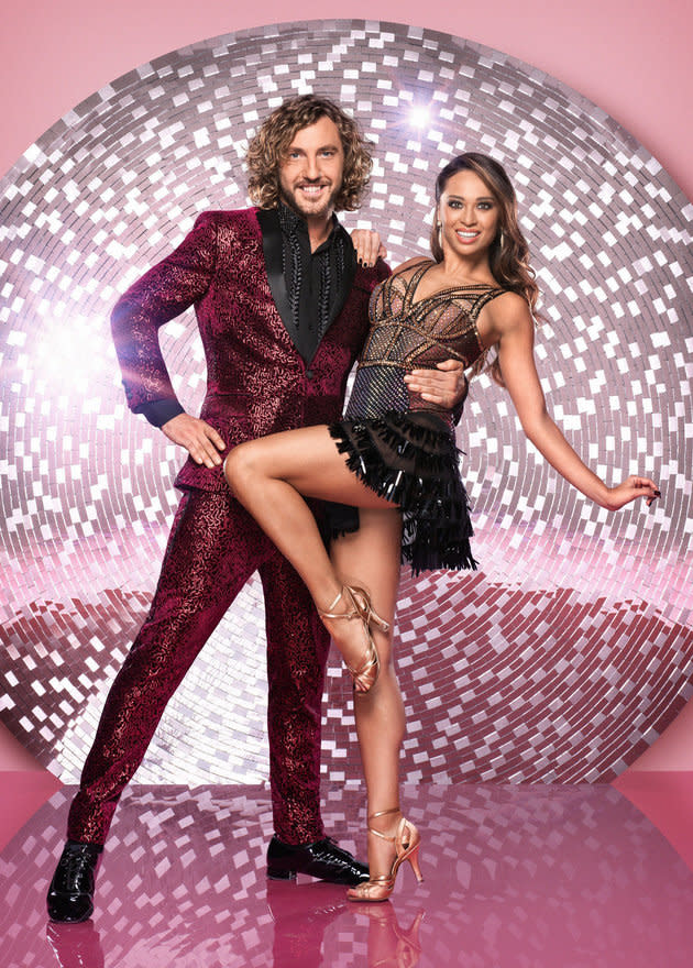 Seann Walsh and Katya Jones shared an illicit kiss