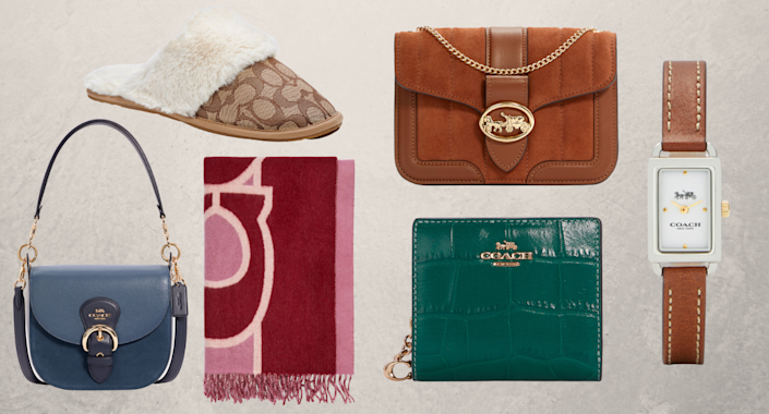 purses, shoes, wallets, watches, and slippers from the coach outlet